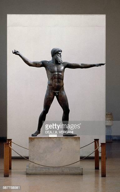 Bronze statue of Zeus or Poseidon ca 460 BC found off Cape Artemisium in Euboea Greece Greek civilisation 5th century BC Athens Ethnikó Arheologikó...