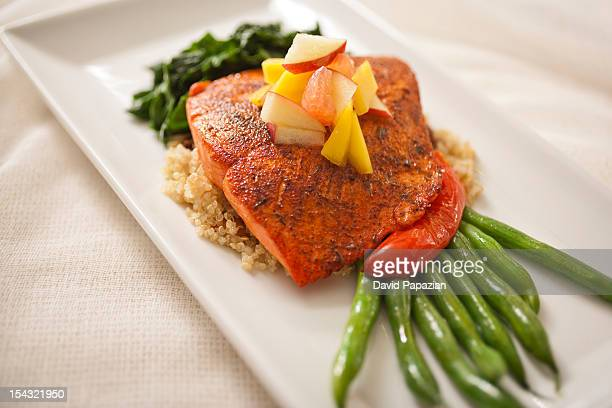 Bronzed Salmon lime scented fruit.