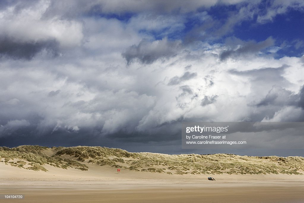 Brooding cumulus clouds over Camber