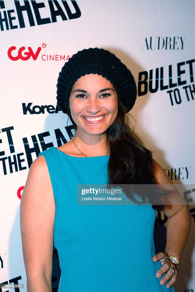 Brook Lee attends 'Bullet To The Head' screening at CGV Cinemas on January 31, 2013 in Los Angeles, California.