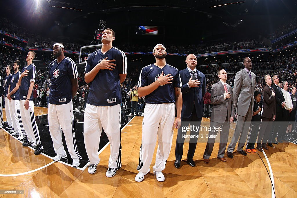 <a gi-track='captionPersonalityLinkClicked' href=/galleries/search?phrase=Brook+Lopez&family=editorial&specificpeople=3847328 ng-click='$event.stopPropagation()'>Brook Lopez</a> #11 and <a gi-track='captionPersonalityLinkClicked' href=/galleries/search?phrase=Deron+Williams&family=editorial&specificpeople=203215 ng-click='$event.stopPropagation()'>Deron Williams</a> #8 of the Brooklyn Nets look on against the Indiana Pacers during a game at Barclays Center on November 9, 2013 in the Brooklyn borough of New York City.