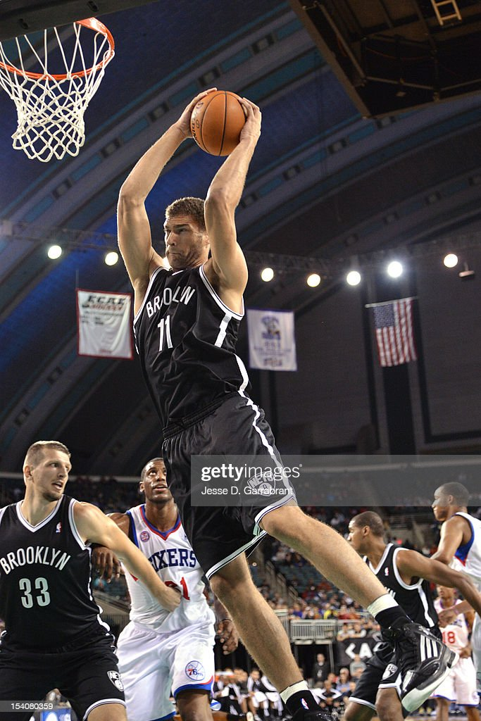 9d15be1c47b ... Brook Lopez 11 of the Brooklyn Nets grabs the rebound against the  Philadelphia 76ers at Brook Lopez 11 of the New Jersey ...
