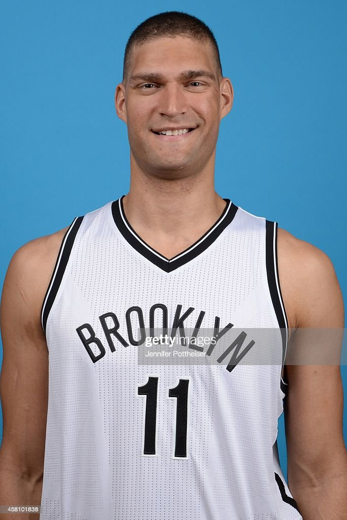 <a gi-track='captionPersonalityLinkClicked' href=/galleries/search?phrase=Brook+Lopez&family=editorial&specificpeople=3847328 ng-click='$event.stopPropagation()'>Brook Lopez</a> #11 of the Brooklyn Nets poses for a portrait during media day on September 26, 2014 at the PNY Center in East Rutherford, New Jersey.
