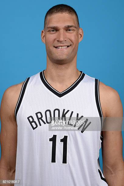 Brook Lopez of the Brooklyn Nets poses for a portrait during media day on September 26 2014 at the PNY Center in East Rutherford New Jersey NOTE TO...