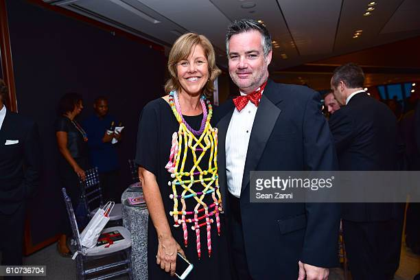 Brooke Anderson and William Andrews attend Abstracted Black Tie Dinner Hosted by Pamela Joyner Fred Giuffrida and the Ogden Museum of Southern Art to...