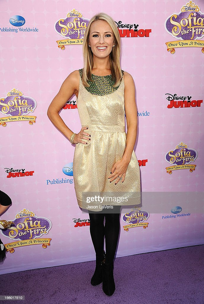 Brooke Anderson attends the premiere of 'Sofia The First: Once Upon a Princess' at Walt Disney Studios on November 10, 2012 in Burbank, California.