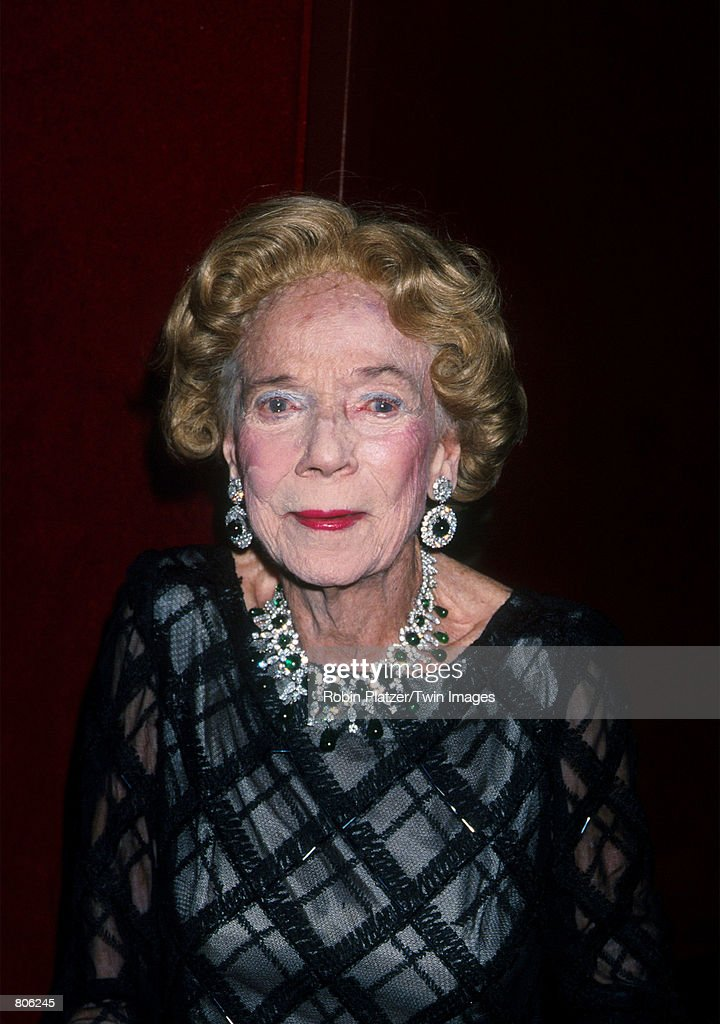 Brooke Astor attends the American Ballet Theatre gala benefit at Lincoln Center April 30, 2001 in New York City.