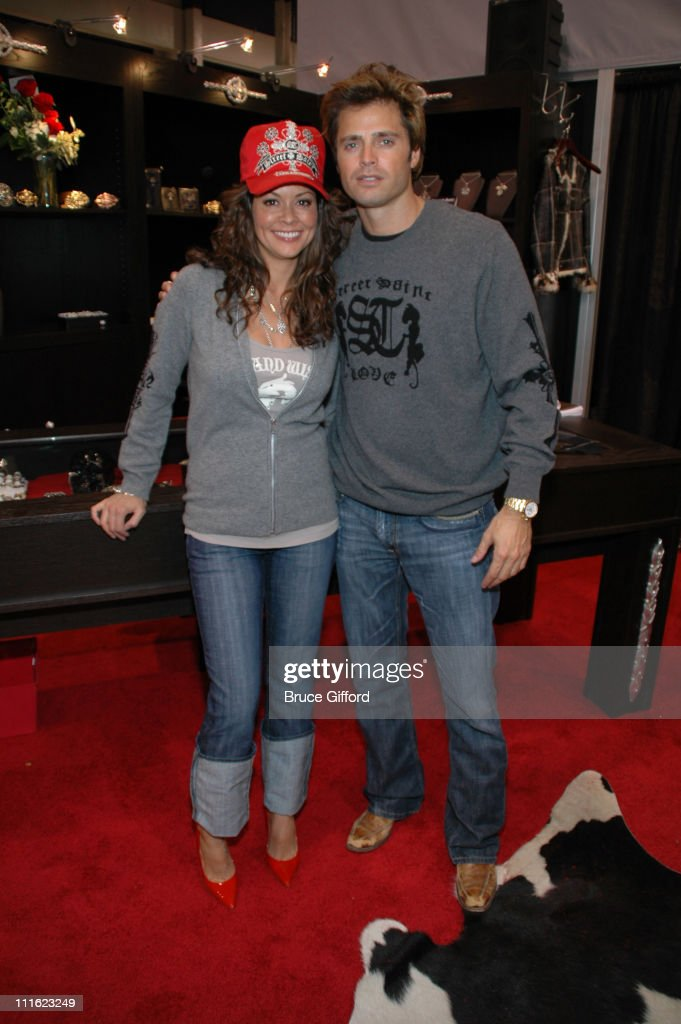 Brooke Burke and David Charvet during 2007 MAGIC Marketplace Day 2 at Las Vegas Convention Center in Las Vegas Nevada United States