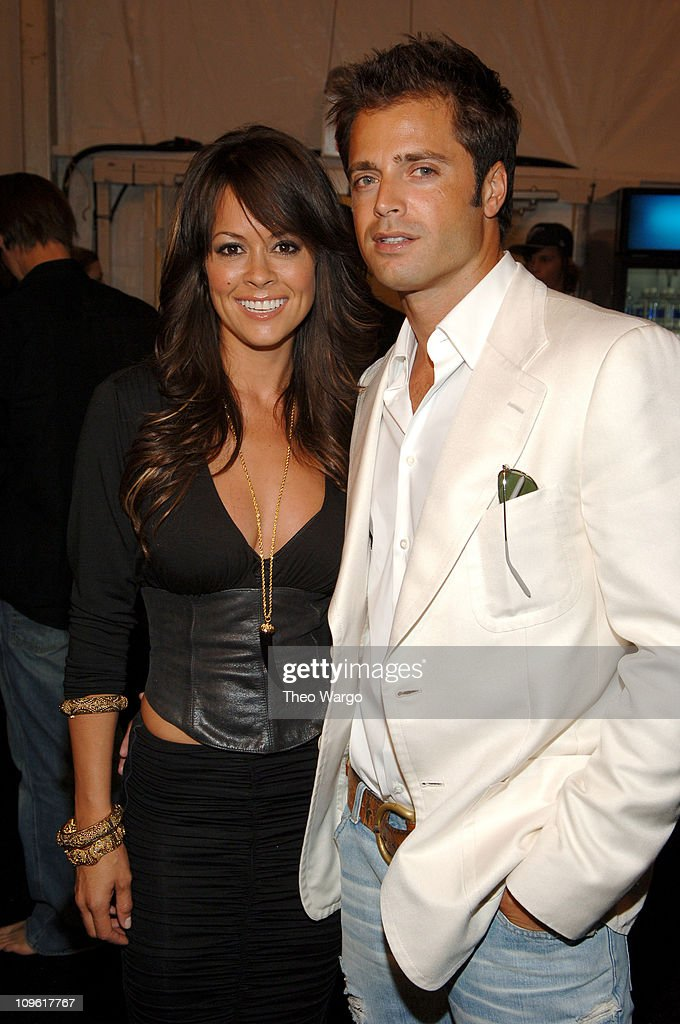 Brooke Burke and David Charvet during Olympus Fashion Week Spring 2006 Tommy Hilfiger 20th Anniversary Celebration Front Row and Backstage at Bryant...