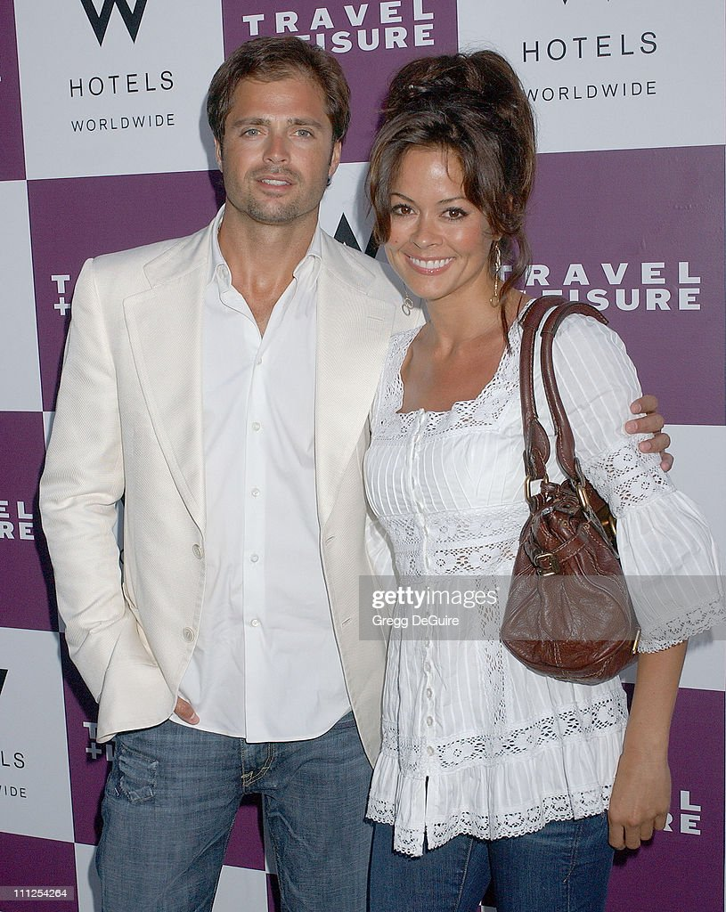 Brooke Burke and David Charvet during Travel Leisure Magazine Celebrates 35th Birthday Arrivals at W Hotel Los Angeles in Westwood California United...