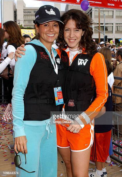 Brooke Burke and Joely Fisher during 12th Annual Revlon Run/Walk For Women Los Angeles at Los Angeles Memorial Coliseum in Los Angeles California...