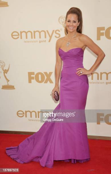 Brooke Burke arrives at the Academy of Television Arts Sciences 63rd Primetime Emmy Awards at Nokia Theatre LA Live on September 18 2011 in Los...
