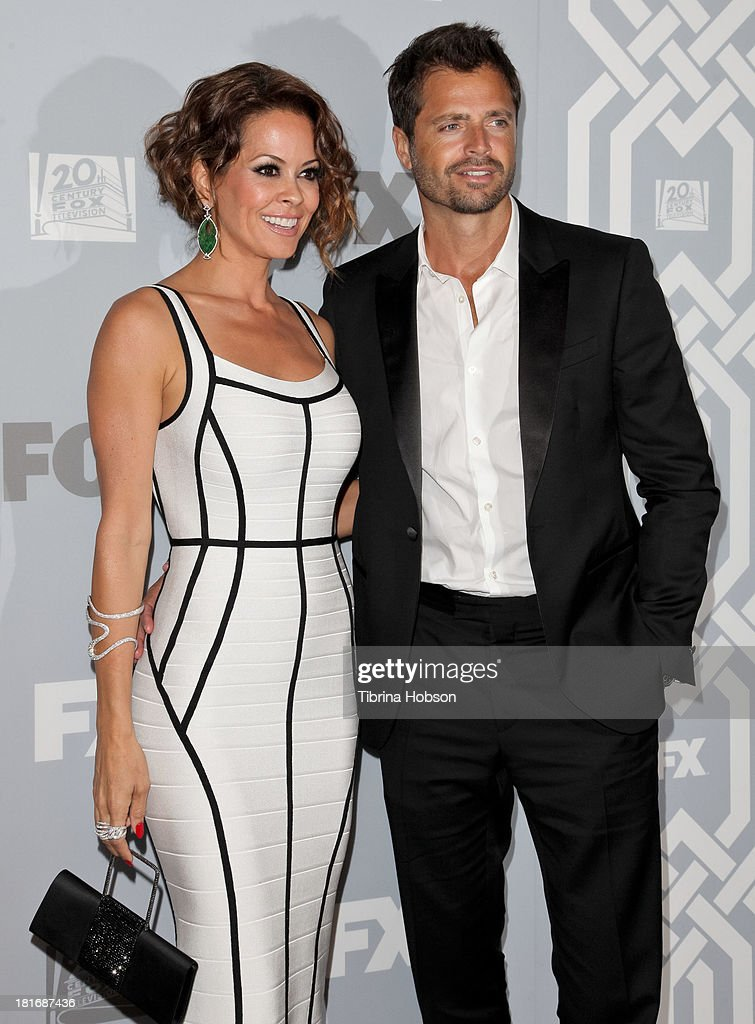 Brooke Burke Charvet and David Charvet attend the Twentieth Century FOX Television and FX Emmy Party at Soleto on September 22, 2013 in Los Angeles, California.