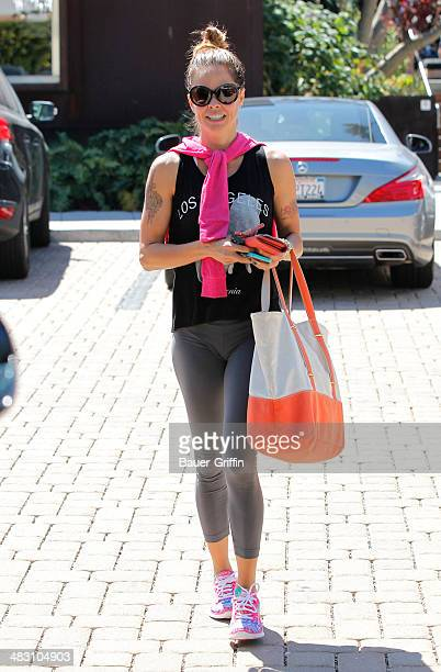 Brooke Burke Charvet is seen leaving the gym on April 06 2014 in Los Angeles California