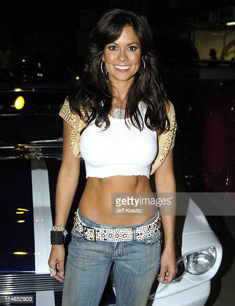 Brooke Burke during Spike TV's 1st Annual Autorox Awards Backstage at Barker Hanger in Santa Monica California United States