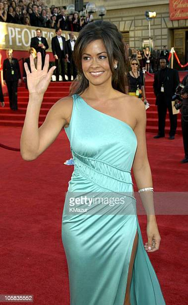 Brooke Burke during The 30th Annual People's Choice Awards Red Carpet at Pasadena Civic Auditorium in Pasadena California United States