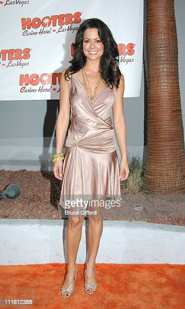 Brooke Burke during The Grand Opening of The First Hooters Casino Hotel at Hooters Casino Hotel in Las Vegas Nevada United States