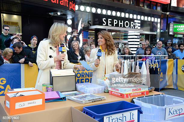AMERICA Brooke BurkeCharset shows how to declutter your life on GOOD MORNING AMERICA 4/20/16 airing on the ABC Television Network LARA