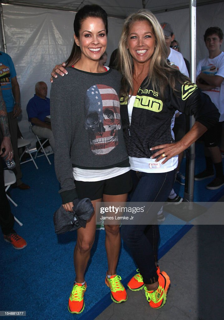 <a gi-track='captionPersonalityLinkClicked' href=/galleries/search?phrase=Brooke+Burke&family=editorial&specificpeople=203216 ng-click='$event.stopPropagation()'>Brooke Burke</a>-Charvet and Denise Austin attend the 4th Annual SKECHERS Pier To Pier Friendship Walk on October 28, 2012 in Manhattan Beach, California.