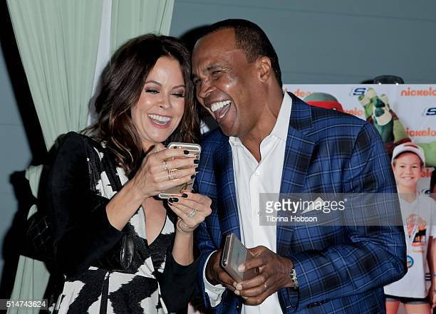 Brooke BurkeCharvet and Sugar Ray Leonard attend the 7th annual SKECHERS Pier To Pier Walk Check Presentation at Shade Hotel on March 10 2016 in...