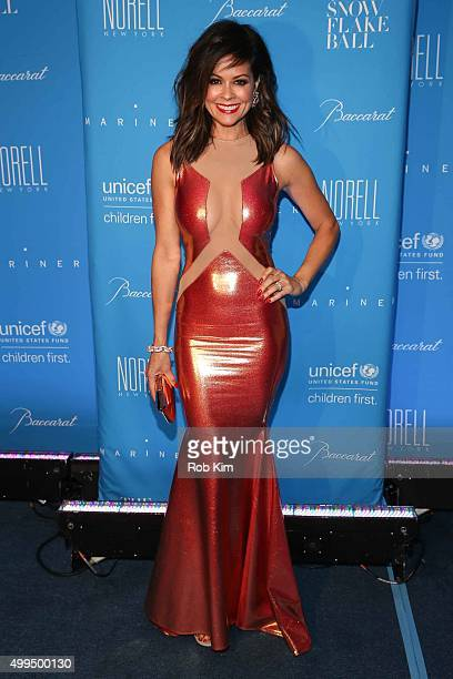Brooke BurkeCharvet attends 2015 UNICEF Snowflake Ball at Cipriani Wall Street on December 1 2015 in New York City