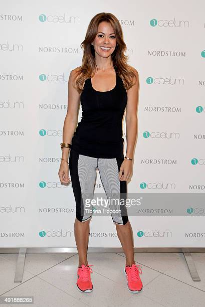 Brooke BurkeCharvet celebrates the launch of her fitness apparel line 'Caelu' at Nordstrom at the Grove on May 17 2014 in Los Angeles California