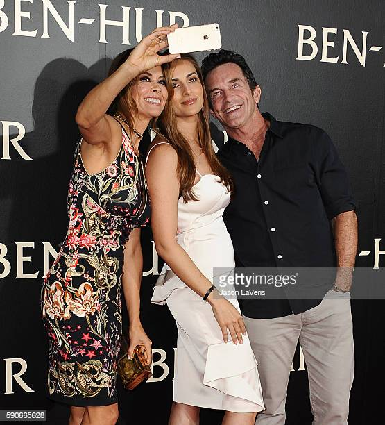 Brooke BurkeCharvet Lisa Ann Russell and Jeff Probst attend the premiere of 'BenHur' at TCL Chinese Theatre IMAX on August 16 2016 in Hollywood...