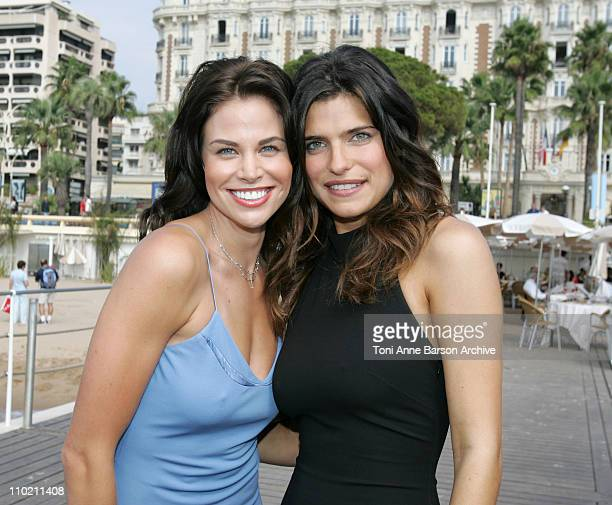 Brooke Burns and Lake Bell during 2004 MIPCOM 'Girls of Fox' Photocall at Carlton Pier in Cannes France
