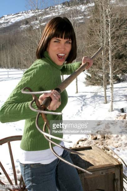 Brooke Burns during 2005 Sundance Film Festival Brooke Burns Outdoor Portraits at Park City in Park City Utah United States