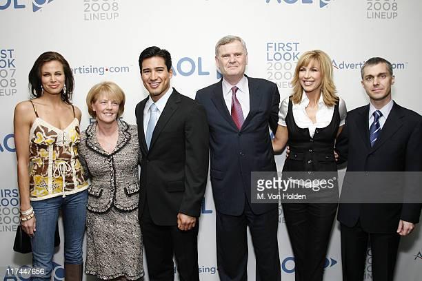 Brooke Burns Susan Falco Mario Lopez Mario Lopez Randy Falco AOL CEO Leeza Gibbons and Ron Grant AOL COO