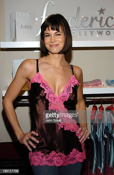 Brooke Burns wearing Frederick's of Hollywood at the Fred Segal Boutique