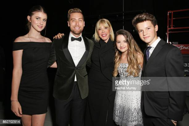 Brooke Butler Lance Bass EMA president Debbie Levin Annie LeBlanc and Hayden Summerall at the Environmental Media Association's 27th Annual EMA...