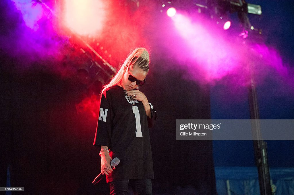 Brooke Candy performs at Day 3 of the T in the Park festival at Balado on July 14, 2013 in Kinross, Scotland.