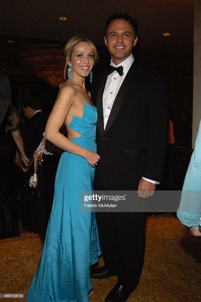 Brooke Davenport and Blake Davenport attend Saks Fifth Avenue's Unforgettable Evening with Lance Armstrong honored by EIF's Women's Cancer Research...