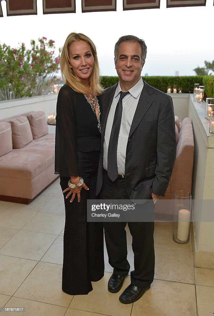 Brooke Davenport and David Webb's Mark Emanuel attend the David Webb Dinner in honor of LAXART at Sunset Tower on May 1, 2013 in West Hollywood, California.