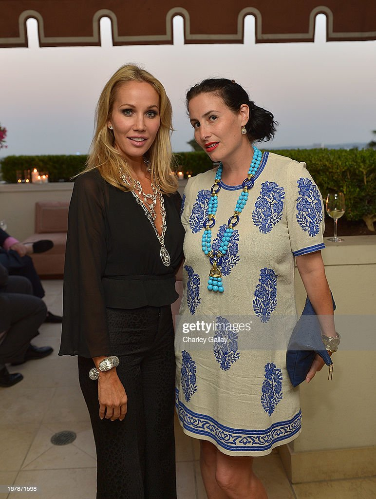 Brooke Davenport (L) and LAXART's Lauri Firstenberg attend the David Webb Dinner in honor of LAXART at Sunset Tower on May 1, 2013 in West Hollywood, California.