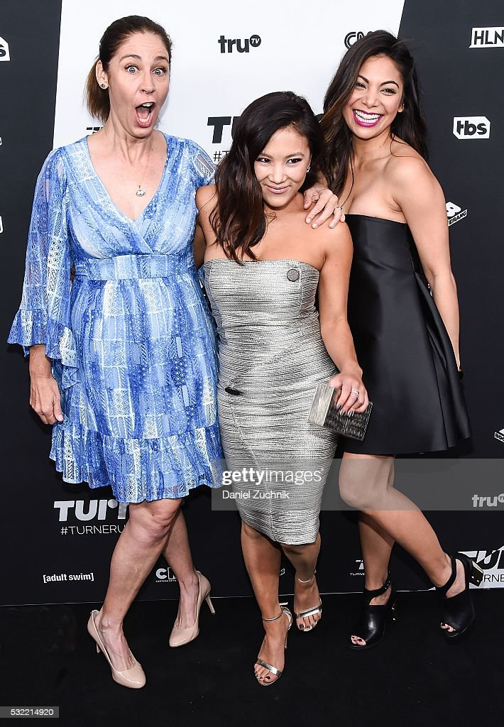 Brooke Dillman Ally Maki and Ginger Gonzaga attend the 2016 Turner Upfront at Nick Stef's Steakhouse on May 18 2016 in New York New York