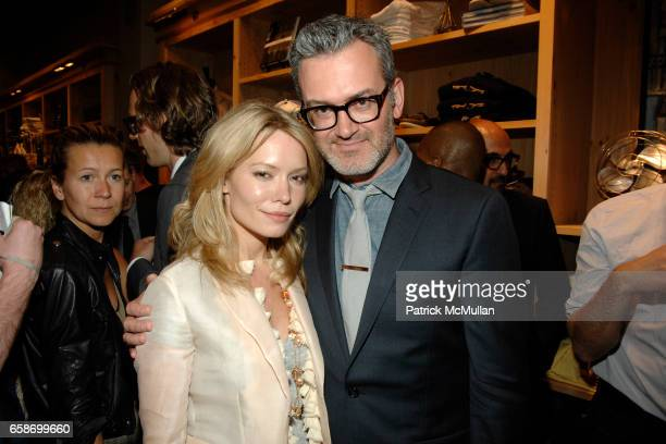 Brooke Geahan and Frank Muytjens attend ACCOMPANIED LITERARY SOCIETY JCREW MEN'S SHOP Present THE MAD ONES at JCrew Men's Shop on June 1 2009 in New...