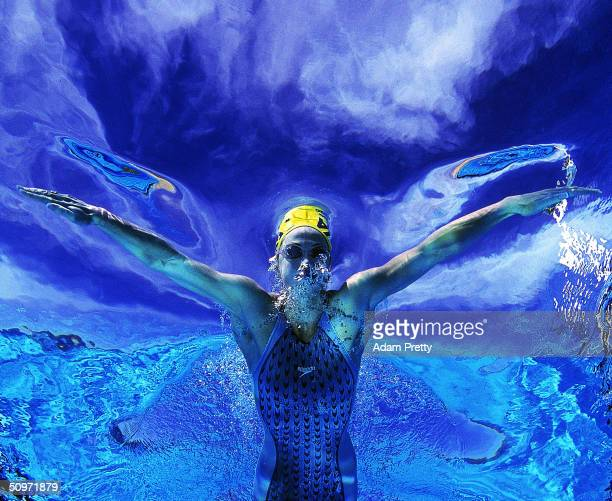 Brooke Hanson of Australia during a feature shoot at Palm Beach Pool May 7 2004 in Currumbin on the Gold Coast Australia