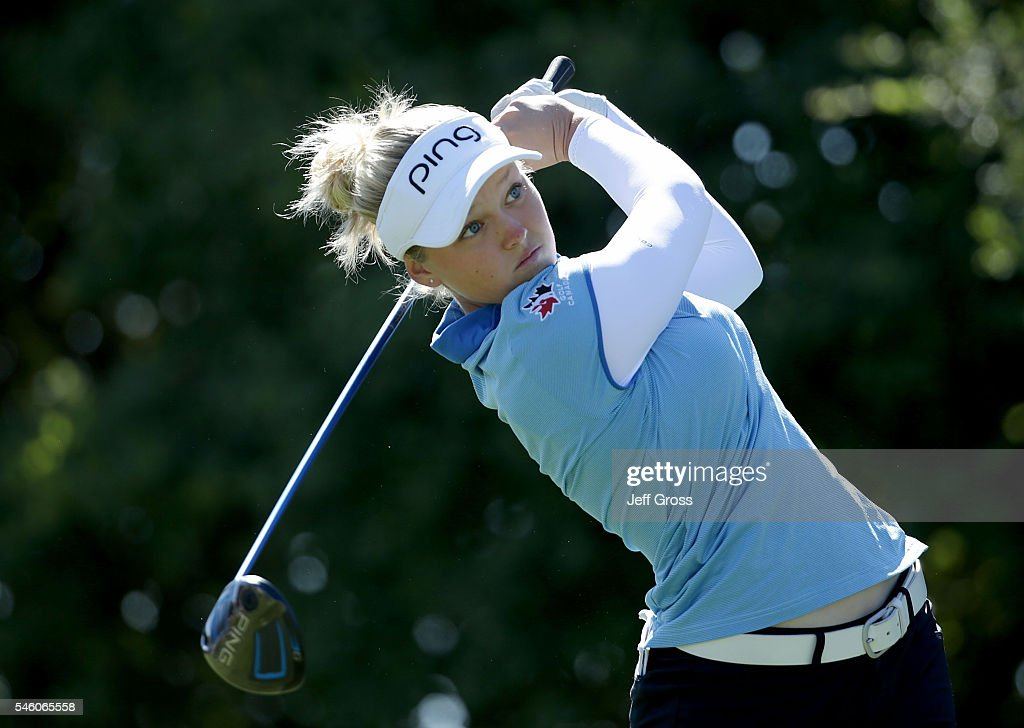 Brooke Henderson of Canada hits a tee shot on the 10th hole during the final round of the U.S. Women's Open at the Cordevalle Golf Club on July 10, 2016 in San Martin, California.