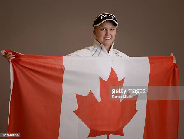 Brooke Henderson poses for a portrait during the KIA Classic at the Park Hyatt Aviara Resort on March 22 2016 in Carlsbad California