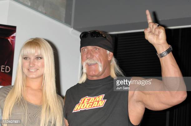 Brooke Hogan and Hulk Hogan during Brooke Hogan Holds a Press Conference to Promote her Debut Album 'UNDISCOVERED' in Japan at Pony Canyon in Tokyo...
