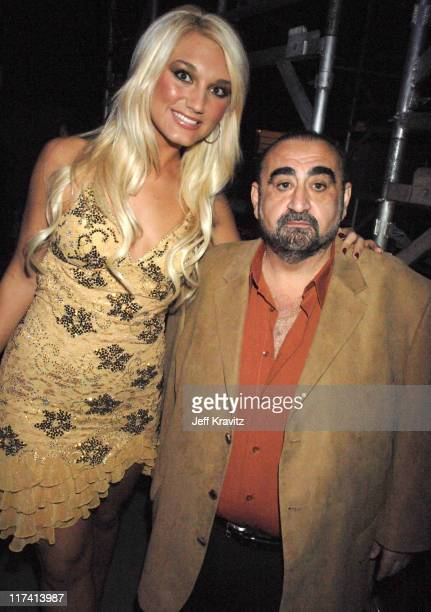 Brooke Hogan and Ken Davitian during VH1 Big in '06 Backstage and Audience at Sony Studios in Culver City California United States