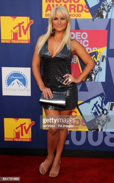 Brooke Hogan arrives for the MTV Video Music Awards 2008 at Paramount Studios Hollywood Los Angeles California