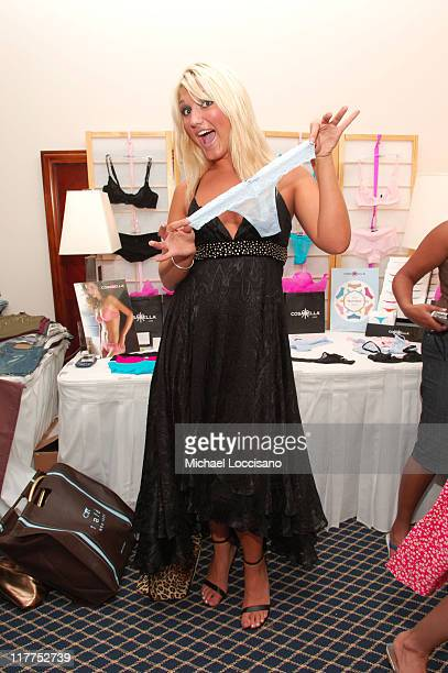 Brooke Hogan at Cosabella during 2005 MTV VMA Ocean Drive Magazine Lounge Suites Day 2 at Ritz Carlton in Miami Florida United States