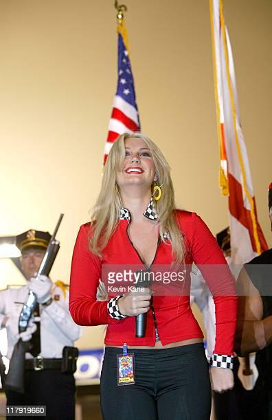 Brooke Hogan at the Florida Dodge Dealers 250 at Daytona International Speedway February 13 2004