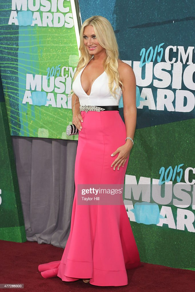 Brooke Hogan attends the 2015 CMT Music awards at the Bridgestone Arena on June 10 2015 in Nashville Tennessee