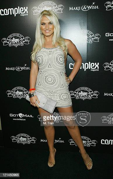 Brooke Hogan during House of Hype PreGrammy Party at Roosevelt Hotel in Hollywood California United States