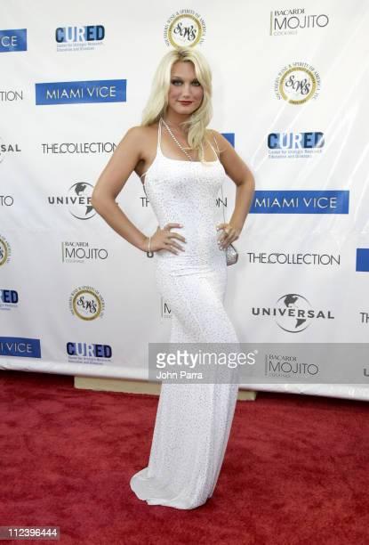 Brooke Hogan during 'Miami Vice' Miami Premiere Arrivals at Lincoln Theatre in South Beach Florida United States