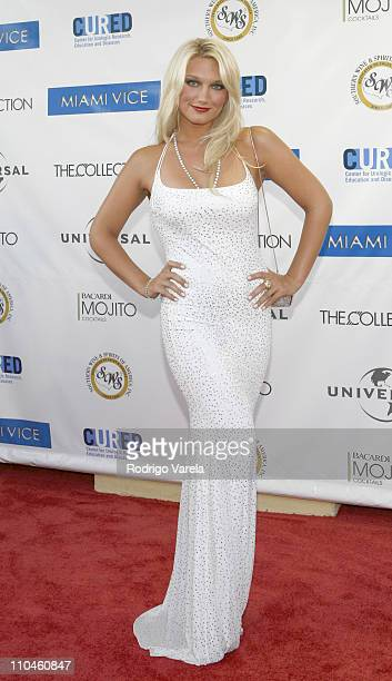 Brooke Hogan during 'Miami Vice' Miami Premiere at Lincoln Theatre in Miami Beach Florida United States